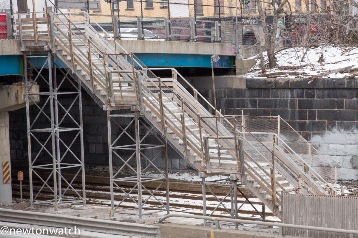 Photos of the Newtonville Commuter Rail Station