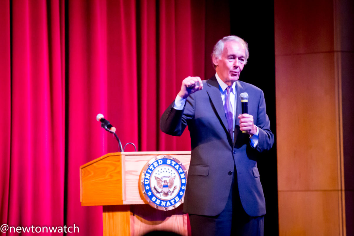 U.S. Senator Ed Markey visits Newton